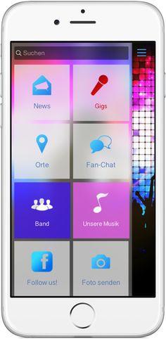 Mobile Marketing - Genau die richtigen Funktionen in der App für  Band, DJ und Music http://nextvisionapps.com/de/online-demo-band-dj