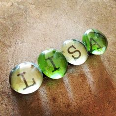 . Name Letters, Letter L, Lisa Name, Cheaters And Liars, Alphabet Magnets, Glass Magnets, Glass Art, To My Daughter, Thats Not My