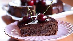 «Mislykket» sjokoladekake med moreller
