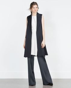 Image 1 of STUDIO WAISTCOAT WITH BACK OPENING from Zara