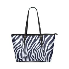texture zebra Leather Tote Bag/Small (Model 1640) Small Bags, Pouches, Travel Bags, Texture, Tote Bag, Leather, Accessories, Fashion, Models