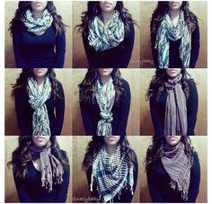 Ideas For How To Wear Pashminas Scarf Leggings Ways To Wear A Scarf, How To Wear Scarves, Tie Scarves, Fashion Brand, Womens Fashion, Cute Fashion, Fashion Tips, Poncho, Scarf Styles