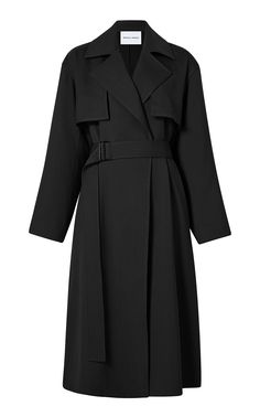 Michelle Waugh's 'Carina' belted gabardine trench is designed with a notch lapel and falls just past the knees in a sleek design. Trendy Outfits, Fashion Outfits, Outerwear Women, Evening Gowns, Autumn Fashion, Women Wear, My Style, Nyc, Fall Fashions