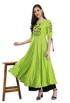 Cotton Anarkali, Anarkali Kurti, Sharara, Indian Tops, Nice Dresses, Girls Dresses, Ethnic Dress, Indian Designer Wear, Designer Dresses