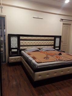 Bed Headboard Design, Bedroom Cupboard Designs, Bedroom False Ceiling Design, Wardrobe Design Bedroom, Bedroom Closet Design, Bed Back Design, Wood Bed Design, Sofa Design, Double Bed Designs