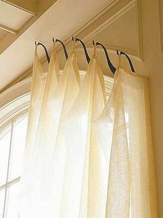 Swag curtain valance over wood blinds | Swag Curtains ...