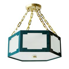 Taylor Semi Flush Mount from Colleen and Company.  Cute lighting and great colors!