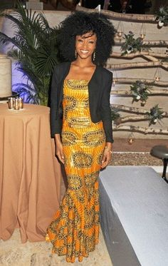 Yaya DaCosta Photos Photos: Lucy Liu attending the Women For Women International Gala 2012 held at the Koch Theatre in Lincoln Centre in New York City African Attire, African Wear, African Women, African Dress, African Clothes, African Style, African Inspired Fashion, African Print Fashion, African Prints