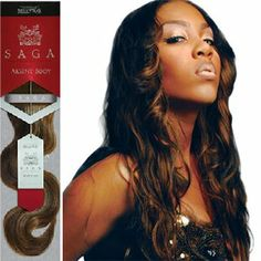 SAGA Aksent Body Remy Weave, 18 inch