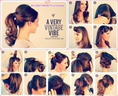 15 Cute And Easy Ponytails I could do maybe one of these by myself...
