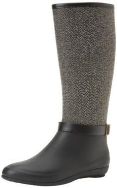 Chooka Women's Tight Herringbone Boot Chooka. $80.00. Removable padded insole. Slim wedge design. Rubber sole. Fabric overlay on shaft. Moisture absorbent cotton lining. Natural rubber upper. Made in China. 100% Natural rubber