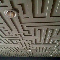 Using CNC machine to create depth on the ceiling.