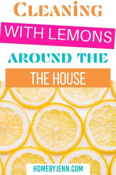 Cleaning with lemons will leave any area smelling fresh and clean. There are so many ways you can clean with lemons. I'm going to show you what to clean with lemons around the house. Lemons might just become your favorite cleaning tool! via @homebyjenn Fresh And Clean, Me Clean, Cleaning Hacks, Cleaning Routines, Daily Routines, Gross Food, All Purpose Cleaners, Spring Cleaning, Homemaking