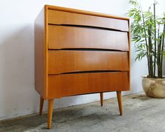 Vintage 50s 60s Retro Mid Century Danish Style Avalon Yatton Chest of 4 Drawers in Home, Furniture & DIY, Furniture, Chests of Drawers | eBay