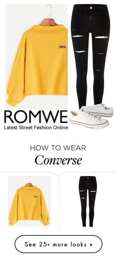 """""""~348\\348~"""" by taytay-55 on Polyvore featuring River Island and Converse"""