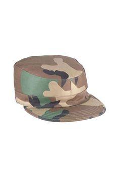 3b3494133b006b 2 Ply Woodland Camo Rip Stop Army Ranger Fatigue Cap Army Navy Store, Army &