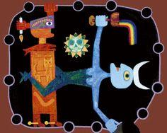 Victor Brauner, « Cérémonie », 1947. « L'art civilisé, domestiqué, formaté par le marché et, pour tout dire, châtré, m'emmerde. » Jean-Jacques Lebel (catalogue de l'exposition, 2009)