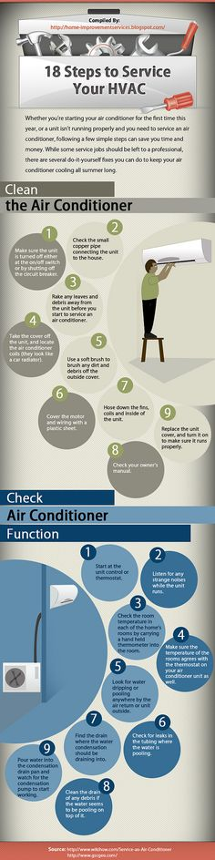 Things never done in my heavenly cottage, since I've lived here: 18 Steps to Service Your HVAC [Infographic]