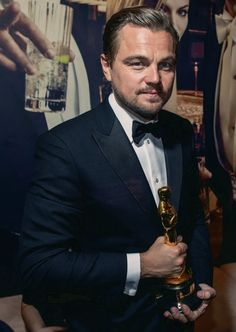 Oscars 2016 after party | best actor leonardo dicaprio for 'the revenant'