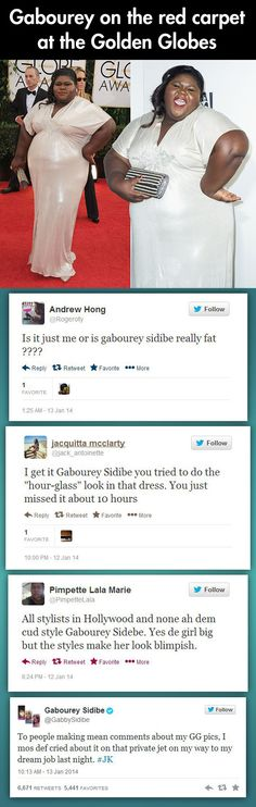 Gabourey Sidibe responds to her twitter trolls...