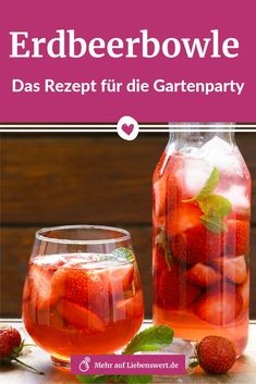 Erdbeerbowle: Das Rezept für Ihre Gartenparty Strawberry bowl tastes refreshingly fruity and reminds us of the We'll tell you the delicious recipe that will make you happy at any garden party! Summer Drinks, Cocktail Drinks, Cocktail Recipes, Superfood Recipes, Vegetarian Recipes, Grilling Recipes, Crockpot Recipes, Punch, Alcohol Recipes
