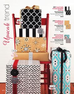 Upscale Trend  Reversible Wrapping Paper