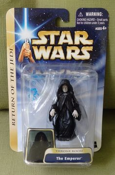 2003 Star Wars Return of the Jedi Throne Room The Emperor Figure New on Card #Hasbro