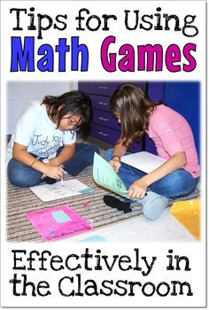 Math games are super-motivating for kids, but they need to be effective instructional tools as well. Check out these tips for teaching with math games, and download a freebie that includes an easy lesson on how to be a good sport.