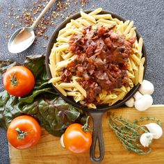 Fresh Tomato and Mushroom Arrabiata Pasta - If you like heat this recipe is for you.
