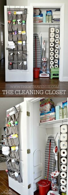 Best Organizing Ideas for the New Year - DIY Cleaning Closet Organization - Resolutions fo. Best Organizing Ideas for the New Year - DIY Cleaning Closet Organization - Resolutions for Getting Diy Organizer, Kitchen Organization, Storage Organization, Organizing Ideas, Bedroom Organization, Closet Storage, Diy Storage, Storage Hacks, Towel Storage