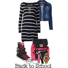 A fashion look from September 2013 featuring Dsquared2 jackets, Converse sneakers and Betsey Johnson backpacks. Browse and shop related looks.