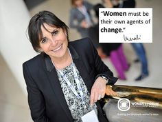 """Women must be their own agents of change."" Véronique Morali, Founder and CEO, Terrafemina, Vice-Chairman, Fitch Group, and President, Fimalac Development and the Women's Forum for the Economy and Society"