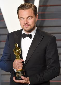 Pin for Later: See Every Wild Moment From Leonardo DiCaprio's Big Night at the Oscars Leo Attempted to Hide His Thinly Veiled Excitement Leonardo Dicaprio Oscar, Leonardo Dicaprio Movies, The Revenant Movie, Leonardi Dicaprio, Cult Of Personality, Oscar Wins, Big Show, Academy Awards, Best Actor
