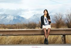 #fashion #mountains #utah #fall #leather #longhair - Amber Shaw Photography - Samiee Grange