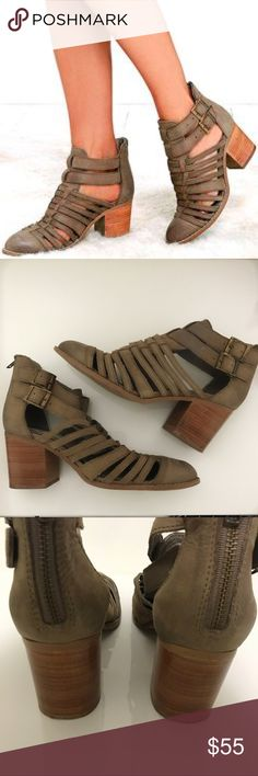 Steve Madden Frenchey heels Steve Madden Frenchy heels, worn once, leather has minor discolorations from time of purchase since it is genuine leather, good condition, no box, size 8 Steve Madden Shoes
