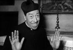 """Fernandel als Pfarrer in der Fernsehserie """"Don Camillo und Peppone"""" #movie #film #work #arbeit"""