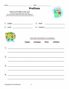 Body Fat Content Worksheet Pdf Prefix Practice Make A New Word  Prefixes Free Worksheets And  Surds And Indices Worksheets Pdf with My Little Pony Worksheets Pdf Free Worksheets Grammar Prefixes And Suffixes   Free Worksheets  At Schoolexpress Times Tables Questions Worksheet Excel