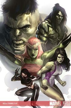 Hulk Family by Marko Djurdjevic
