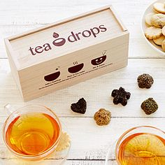 This assortment of dissolving tea drops makes delicious tea blends with just hot water.