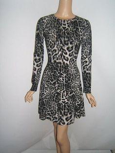New MICHAEL KORS XS 2 4 SEXY KNIT Black Gray Animal Print Womens Dress NWT #MichaelKors http://stores.ebay.com/Designer-Shoes-and-More?_dmd=2&_nkw=michael+kors