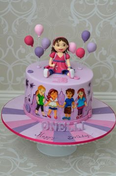 Dora & Friends - Cake by designed by mani Dora And Friends, Friends Cake, Dora Diego, Dora Cake, Birthday Parties, Birthday Cake, Hand Painted Cakes, Dora The Explorer, Cake Designs