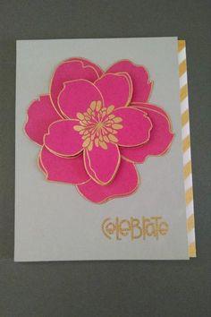 Celebrate Card by MeganBeth. #EllenHutsonLLC #EssentialsbyEllen #MixItUpChallenge #MondoMagnolia @kimhughes22