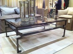 """Isn't this Caracole """"Table of Contents"""" cocktail table just fantastic?  The shape is great, and the shelf adds functionality.  Keep the pretty things on top and stash books down below!  Best of all, its price point is incredibly reasonable.    Caracole Schnadig (IHFC C500) #hpmkt  www.tracizeller.com"""