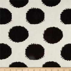 maxi skirt - Designer Stretch Rayon Jersey Knit Large Spots Black/Ivory