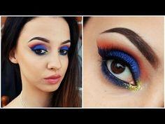 Wonder Woman Inspired Makeup Tutorial - #wonderwoman #makeup #makeuptutorial #colorfulshadow #blueshadow #bluemakeup #nataliebeautyyy - bellashoot.com & bellashoot iPhone & iPad app