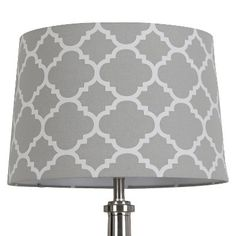 Threshold™ Flocked Ogee Lamp Shade - Gray Marble - COMES IN MULTIPLE COLORS