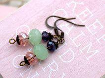 Ohrringe Bronze Glasperlen Mint von CLARKikind