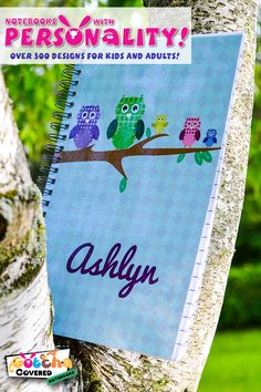 Looking for the perfect gift for a special child? We've Gotcha Covered! Teach them to love writing and drawing with a personalized notebook with their name on it. With over 300 cover designs to choose from and multiple internal paper and spiral options, they'll love showing off their one-of-a-kind creation!