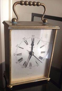 Garrard Heavy Vintage Solid Brass Cased Mantel / Carraige Clock for restoration