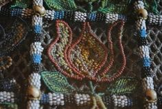 17th century bead basket used to carry rosemary for guests at weddings and christenings - detail